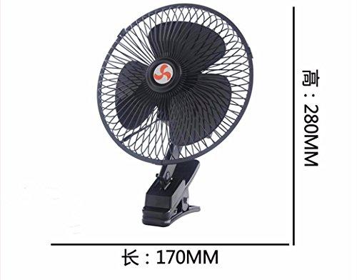JISHUQICHEFUWU Ventilateur/Voiture avec Petit Ventilateur/Ventilateur Rotatif/pièces Auto, H, 24V