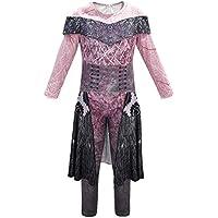 Niños Niñas Traje Disfraces de Halloween Descendientes 3 Audrey Traje Mono Traje de Cosplay (Multicolor, 9-10 Años)