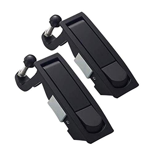 2PCS Compression Latch Lock Smith Series Powder Coated Zinc Alloy Adjustable Lever Hand Operated Flush Lever Marine Applicable Door Thickness: 0.04'-0.94' Grip Range