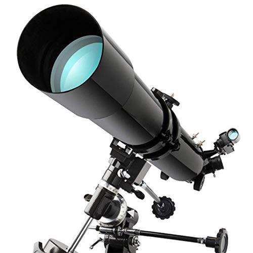 LFDHSF Telescopio, binoculares astronómicos, Lente óptica HighAllCoated HD de 80 mm, trípode portátil para Viajes al Aire Libre Stargazing Camping para Principiantes Adultos y niños