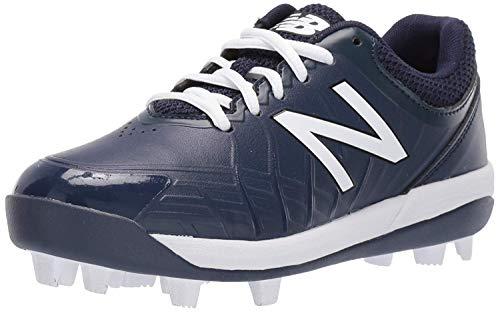 New Balance Kid's 4040 V5 Molded Baseball Shoe, Navy, 4 M US Big Kid