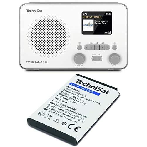TechniSat TECHNIRADIO 6 IR – portables Internetradio, grau/weiß + Akku zu DIGITRADIO 1, DIGITRADIO 2, TECHNIRADIO RDR