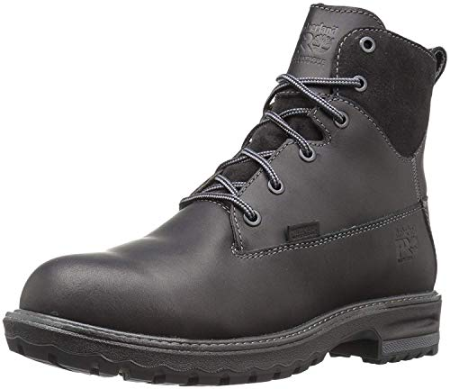 "Timberland PRO Women's Hightower 6"" Alloy Toe Waterproof Industrial & Construction Shoe, Black Full Grain Leather, 9 M US"