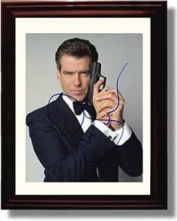 Framed Pierce Brosnan Autograph Replica Print - James Bond