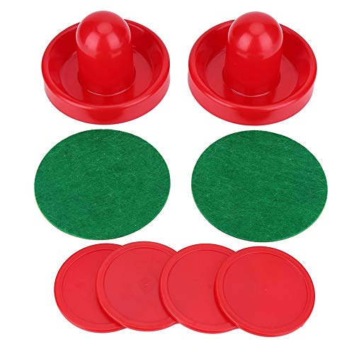 Ruiqas Plastic Lightweight Goalies Ice Hockey Pushers Pucks Set, Air Hockey Pushers and Pucks Great Goal Accessories for Game Tables