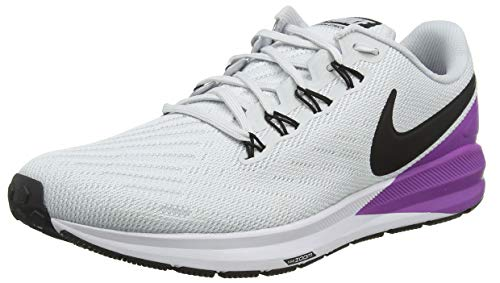 Nike Men's Running Shoes, Grey Pure Platinum Black Hyper Violet White 009, 8.5 UK