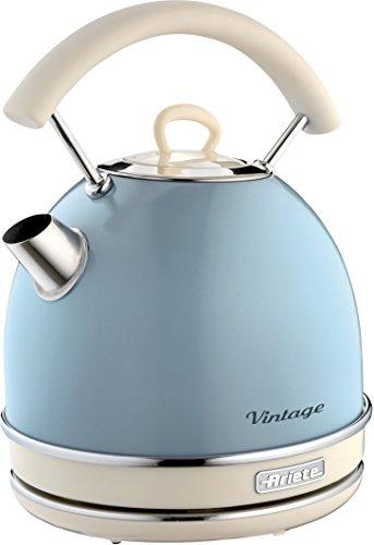 Ariete 2877 Kabelloser Wasserkocher Vintage, 1,7 L, 2200 W, blau, Rostfreier Stahl