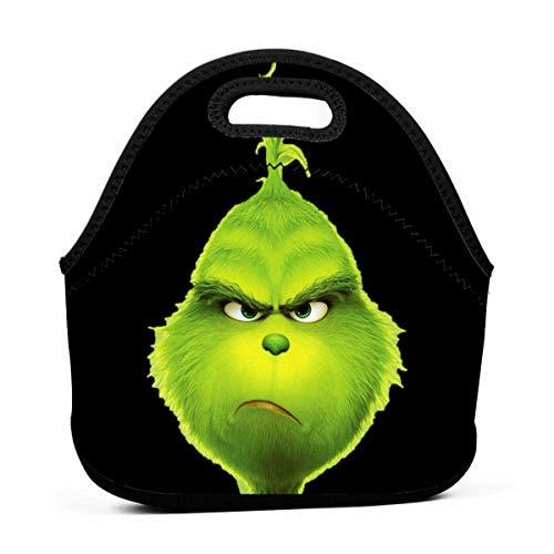 Bolsa de almuerzo portátil con cremallera para la escuela, bolso de mano para niños