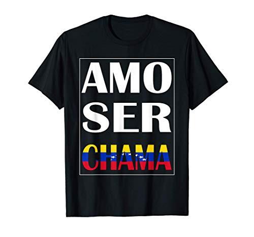 Amo Ser Chama Diseño Con Orgullo Franela Venezuela Camiseta