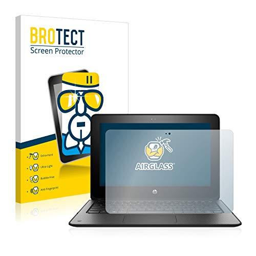 BROTECT Panzerglas Schutzfolie kompatibel mit HP ProBook x360 11 G1 EE - AirGlass, 9H Festigkeit, Anti-Fingerprint, HD-Clear