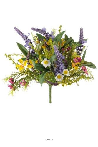 Artificielles.com Künstlicher Blumenstrauß mit verschiedenen Feldvarianten, Höhe 25 cm