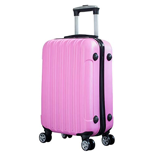Mini-Board koffer 20 inch vrouwelijk draagbaar make-up tas reiswachtwoord, Violeta (Roze) - errhf656566927