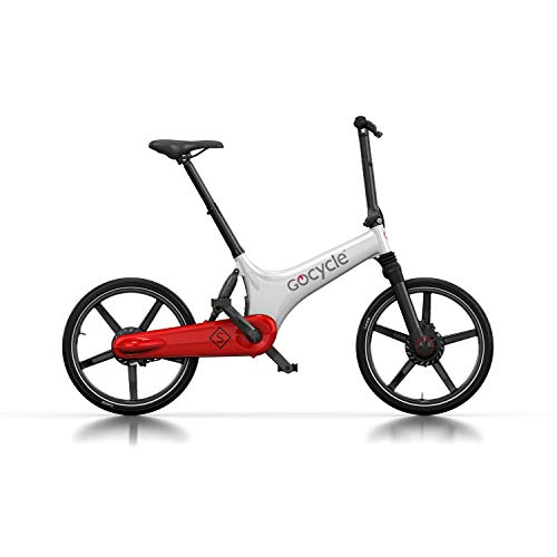 Gocycle GS - Bicicleta plegable, color blanco, rojo y blanco
