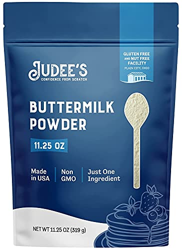 Judee's Buttermilk Powder 11.25oz - 100% Non-GMO, Gluten-Free & Nut-Free - Perfect for Pancakes, Fried Chicken and More - Made in USA - Use in Baking or Make Liquid Buttermilk