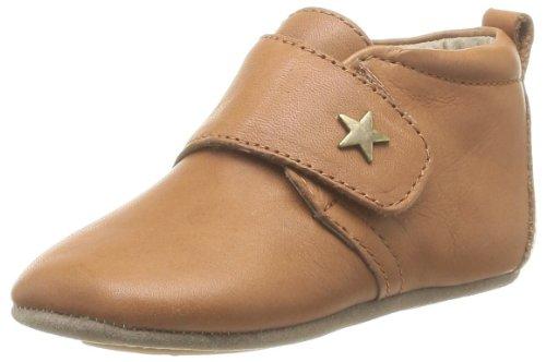 Bisgaard Unisex Baby Velcro Star Pantoffeln, Braun (66 Cognac), 21 EU