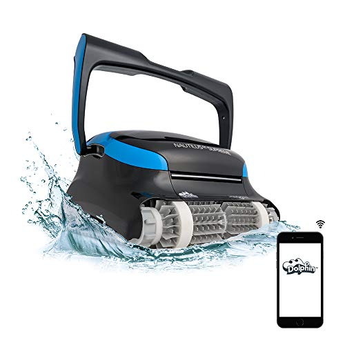 DOLPHIN Nautilus CC Supreme WiFi Operated Robotic Pool [Vacuum] Cleaner - Ideal for In Ground Swimming Pools up to 50 Feet - Easy to Clean Top Load Filter Cartridges