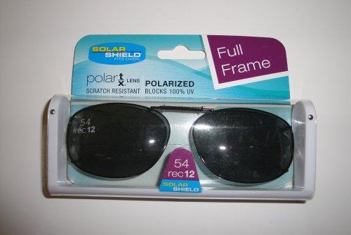Solar Shield 54Rec12 full frame Gray lens Polarized Clip On Sunglasses by Dioptics Inc