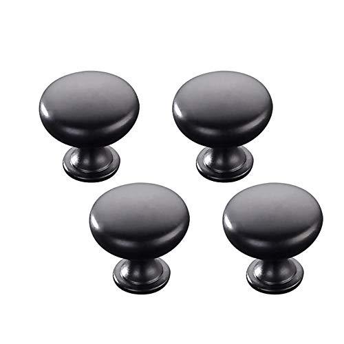 Zhi Jin Lot de 4 poignées d'armoires modernes noires pour tiroirs et placards de bureau à domicile 96 mm