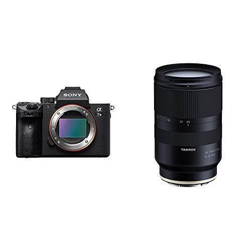 Sony a7 III Full-Frame Mirrorless Interchangeable-Lens Camera Optical with 3-Inch LCD, Black (ILCE7M3/B) with Tamron 28-75mm F/2.8 for Sony Mirrorless Full Frame E Mount (Tamron 6 Year Limited USA Warranty)