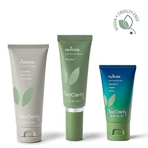 bioClarity 3-Step Essentials Skin Routine (Mini Size) for Normal & Oily Skin Types | 100% Clean, Vegan Ingredients