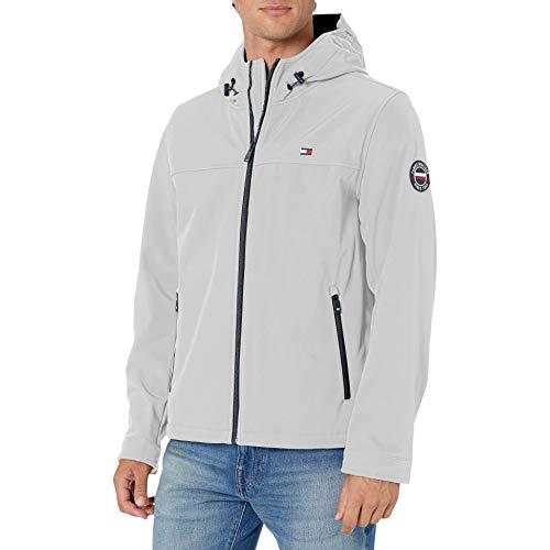 Tommy Hilfiger Herren Lightweight Performance Softshell Hoody Jacket Übergangsjacke, Ice, X-Large