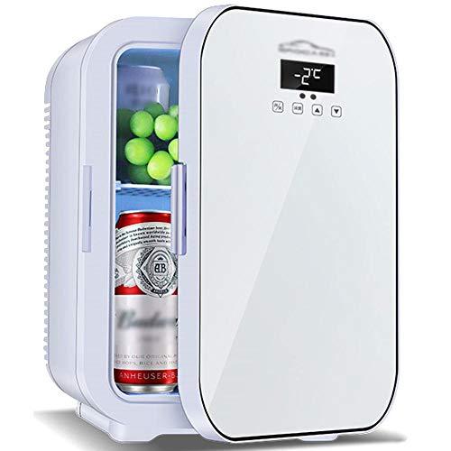 Dormitorio Oficina Coche Refrigerador, Coche y Hogar Mini refrigerador Mini, Sala de alquiler Caja de calefacción y refrigeración AC/DC-blanco_20l