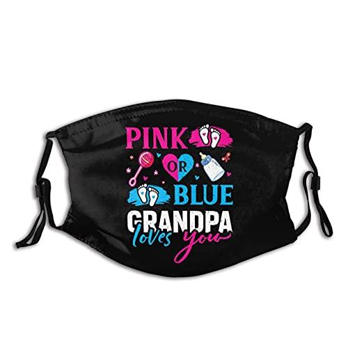 Jopath Mascarilla para bebé con diseño de abuelo rosa o azul