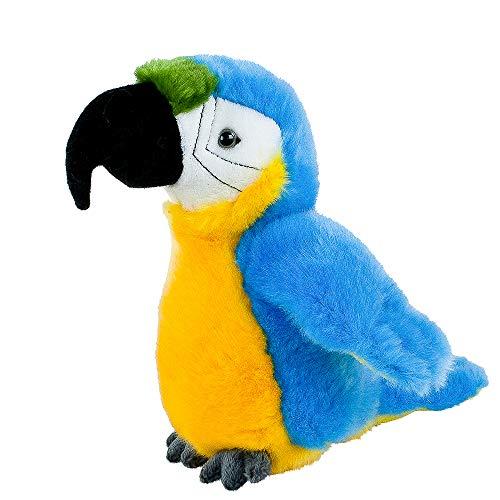 Teddys Rothenburg Kuscheltier Papagei Ara klein blau gelb 19 cm Plüsch Stofftier Plüschtier Baby Kinder Spielzeug