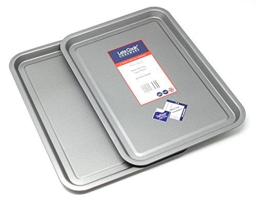 Backblech Twin Pack - Teflon Non Stick Britisch gebackene Backformen von Lets Cook Cookware