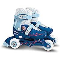 Stamp Sas- Frozen II Adjustable Two in One 3 Wheels Skate, Color Blue, 27-30 (RN244301)