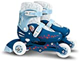 Stamp- Frozen II Adjustable Two in One 3 Wheels Skate, Color Azul, Talla...