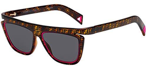 FENDI FLUO FF 0384/S (0T4/IR) Havana Pink/grey NEW SUNGLASSES