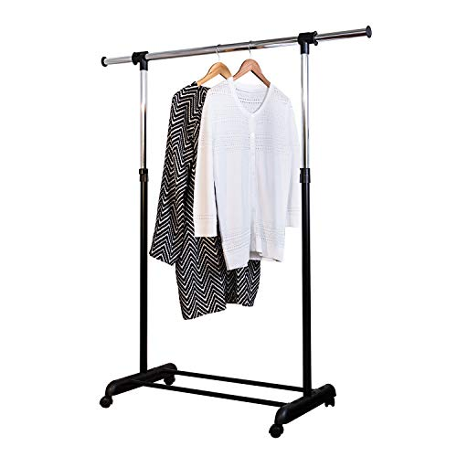 Honey-Can-Do GAR-01124 Expandable Garment Rack ChromeBlack
