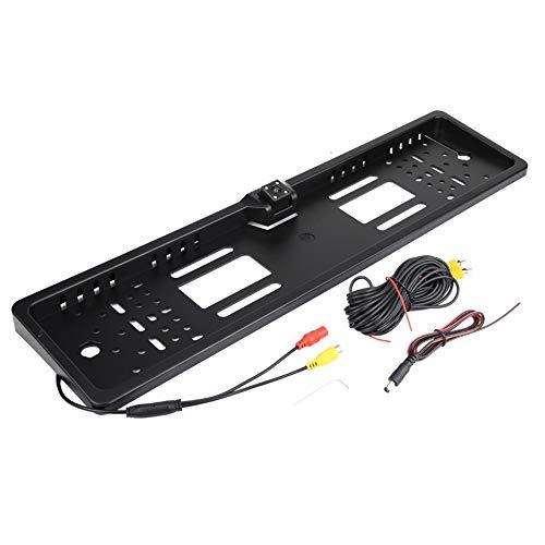 KIMISS Nummernschild mit Kamera, Kfz Kennzeichenhalter mit 140 ° Full HD Rückfahrkamera IP67 Wasserdicht mit Infrarot IR Unterstützung Nachtsichtmodus(A)