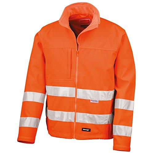Result Core - Veste Softshell Haute visibilité - Homme (2XL) (Orange Fluo)