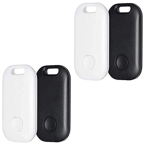 Wivarra Paquete de 4 Localizadores de Buscador de Llaves Inteligentes, Dispositivo de Rastreo GPS Ultradelgado para NiiOs, Mascotas, Llavero, Billetera, Alarma de Etiqueta Anti-Perdida