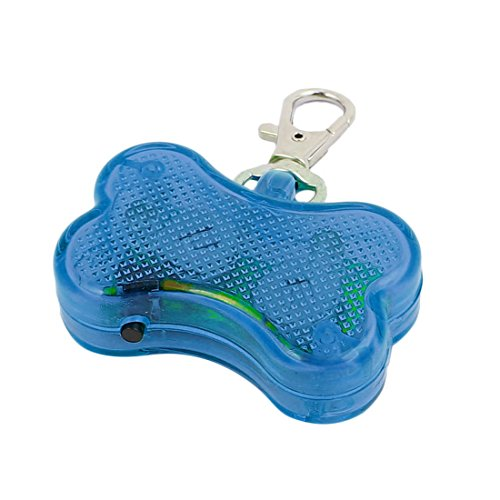 Aexit Blaue LED Licht Knochenform Hund Blinker Blinkende Sicherheit Anhänger Kragen Geschenk (0ea2df9da7b3e665efc465712351a32f)