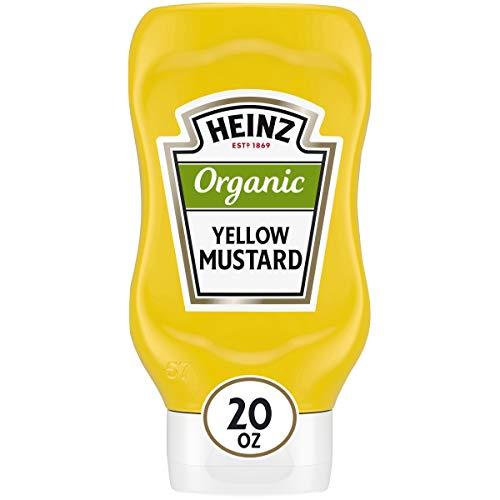 Heinz Organic Yellow Mustard (20 oz Bottle)