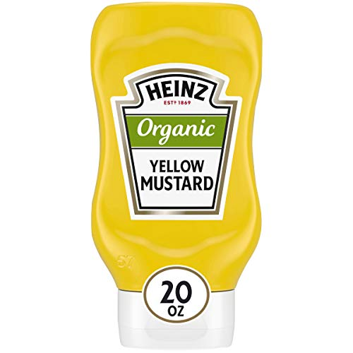Heinz Organic Yellow Mustard (20 oz Bottle)