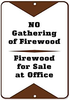 BIN SHANG No Gathering of Firewood for Sale at Office Activity Sign Aluminum Metal Sign Tin Sign 8 x 12 inch