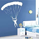 YFQEGM European Style Skydiving Wallpaper Home Decoration Wall Decal Decor Living Room Removable Bedroom Home Decoration 58Cm X 70Cm