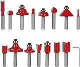 flintronic Fresas Set, 15 PCS Cortadores Caja de plastico de Diámetro de Caña Herramient...