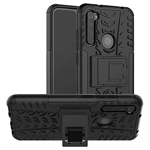 Capa Capinha Anti Impacto Para Xiaomi Redmi Note 8 Normal Tela 6.3Case Armadura Hybrid Reforçada Com Desenho De Pneu - Danet (Preto)