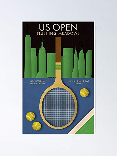 GRASSO MAX US Open Tennis Sport Travel Funny Poster Gift for Men Woman Poster Home Art Wall Posters [No Framed]