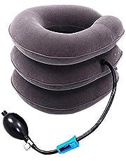 Inflatable Neck Massager Pillow Dark Gray