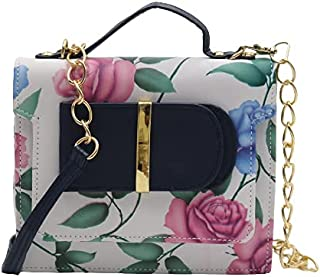 Indigenous Store Fashions Girls & Women's Hand Bag, Single Handle Beautiful floral Printing on the Front Side and Looking ...