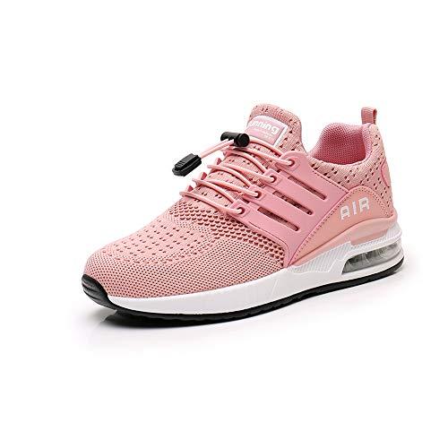 Heren Womens Sport Casual Hardlopen Schoenen Wandelen Joggen Gym Sneakers Comfortabele Ademende Mode Trainers Atletisch Gaas pink 39
