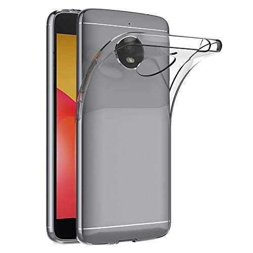 COPHONE® Coque de Protection Motorola Moto E4 Plus Etui Transparent antidérapent Coque en Silicone Transparente Moto E4 Plus et Discrete. Housse Moto E4 Plus Haute Protection.