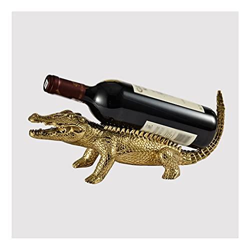 OUMYLFCNEC Botelleros Titular de la Botella de Vino, Alces Puro de Cobre Estante de Vino de un Solo Vino Escultura Animal, Rack de Almacenamiento de vinos para el hogar y la Oficina Botellero de Mesa