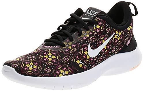 Nike Women's Flex Experience RN 8 SE Cross-Training Shoes, Black/White/Lotus Pink/Crimson Tint, 6 US